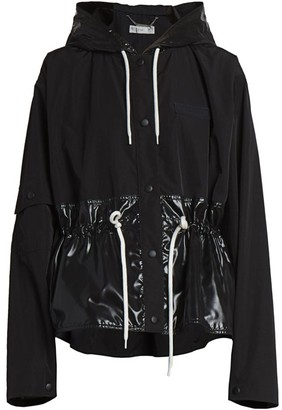 Givenchy Gathered & Hooded Windbreaker