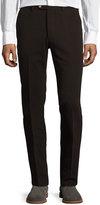 Luciano Barbera Cotton Twill Straight-Leg Pants, Brown