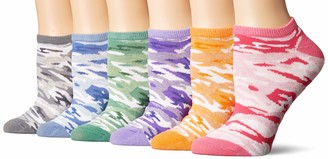 K. Bell Socks womens 6 Pack Novelty No Show Low Cut Casual Sock