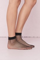 Garage Sparkly Fishnet Ankle Socks