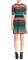 M Missoni Ripple Stitch Fit & Flare Dress