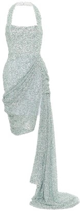 Halpern Sequined halterneck minidress