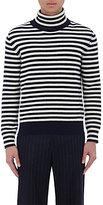 Moncler Men's Striped Virgin Wool Turtleneck Sweater