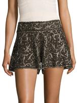 Haute Hippie Marisa Silk Embellished Short