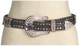 Nocona Snake Print Rhinestone Belt - Leather (For Women)