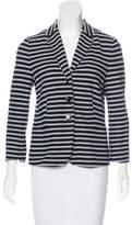 Bogner Striped Button-Up Blazer