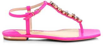 Sophia Webster Ritzy Embellished Leather Thong Sandals