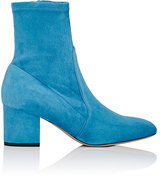 Valentino Women's Suede Ankle Boots-Blue