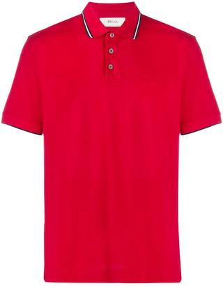 Ermenegildo Zegna Contrast-Collar Polo Shirt