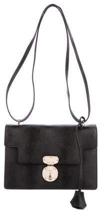 Giorgio Armani Textured Leather Shoulder Bag