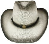 Silver Fever® Silver Fever Fashionable Ombre Woven Straw Cowboy Hat