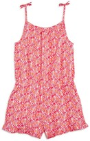 Vineyard Vines Girls' Shell Print Romper