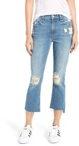 Mother Women's The Insider Step Hem Crop Bootcut Jeans