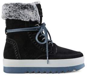 Cougar Vanetta Faux Fur Collared Mid-Calf Suede Boots