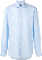 Barba classic plain shirt - men - Cotton/Linen/Flax - 39