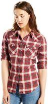 Levi's Women's Classic Tailored Western Plaid Shirt
