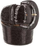 Bally Crocodile Waist Belt