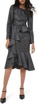 Michael Kors Long-Sleeve Asymmetric Cocktail Dress