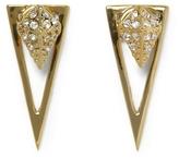 Vince Camuto Goldtone Drop-back Triangle Earrings