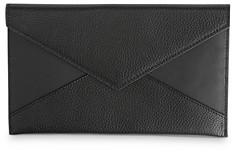 ROYCE New York Leather Envelope Clutch