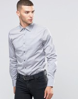Sisley Slim Fit Shirt With Contrast Buttons