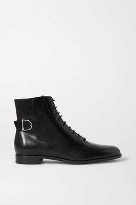 Tod's Lace-up Leather Ankle Boots - Black