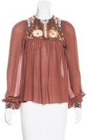 Matthew Williamson Embellished Silk Blouse