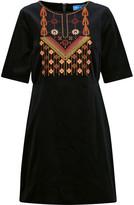 MiH Jeans Ezra embroidered velvet mini dress