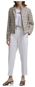 Thumbnail for your product : Karl Lagerfeld Paris High Waisted Pleated Pant