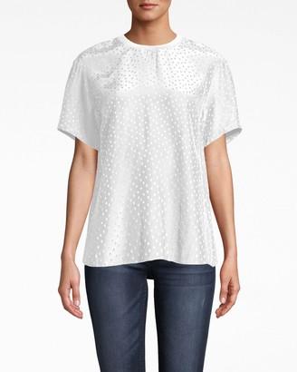 Nicole Miller Polka Dot Jacquard T-shirt