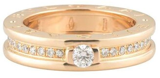 Bvlgari pre-owned 18kt rose gold B.Zero1 diamond ring