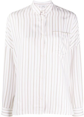 Peserico Striped Long-Sleeved Blouse