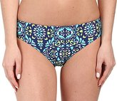 Athena Women's Mosaic Tile Reversible Retro Bikini Bottom