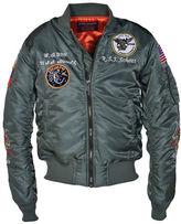 Schott NYC Embroidered Flight Satin Souvenir Jacket