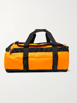 The North Face Logo-Print Coated-Shell Duffle Bag - Men - Yellow