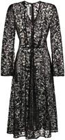 Sequin-Embellished Lace Midi Dress