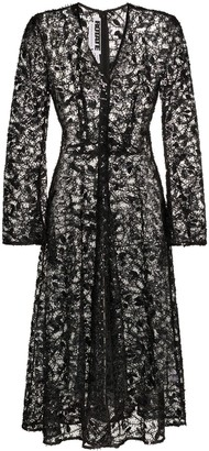 Rotate by Birger Christensen Sequin-Embellished Lace Midi Dress