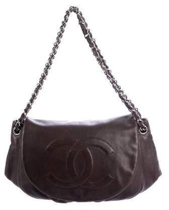 Chanel Caviar Half Moon Flap Bag