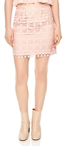 Sandro Lonely Lace Mini Skirt