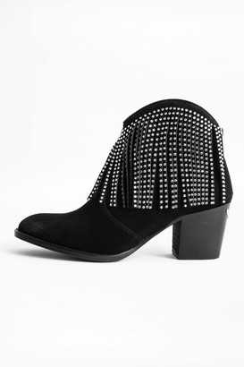 Zadig & Voltaire Molly Strass Fringe Ankle Boots