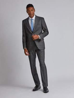 Burton Menswear London Check Tailored Suit Jacket - Grey