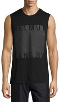 Helmut Lang Coated Logo Muscle T-Shirt, Black
