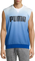 Puma Sleeveless Ombre Running Top, White