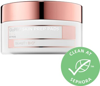 BeautyBio GloPRO Prep Pads Clarifying Skin Cleansing Wipes with Peptides