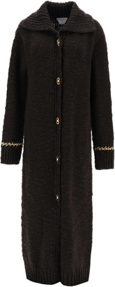 Bottega Veneta LONG CARDIGAN WITH CHAIN M Brown, Gold Wool