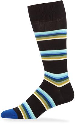 Paul Smith Men's Lion Stripe Knit Socks