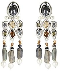 Alexis Bittar Future Antiquity Multi-Crystal, Imitation Pearl & Labradorite Fringe Drop Earrings