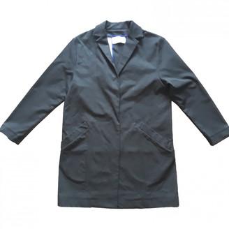 Cédric Charlier Black Cotton Coat for Women
