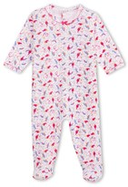 Petit Bateau Baby girl bird-print sleepsuit