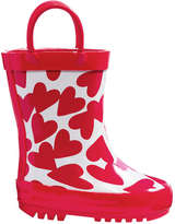 Joe Fresh Baby Girls' All Over Print Rain Boots, Red (Size 6)